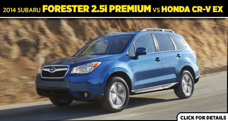 Compare new subaru vehicles versus the competition with for Honda crv vs subaru forester